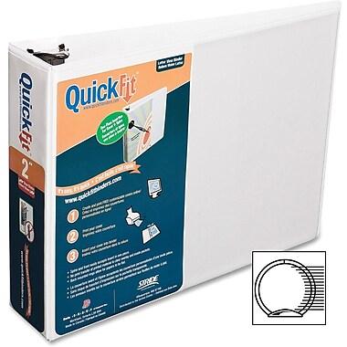 Heavy duty 2in round ring landscape binder 8 1 2in x 11in white
