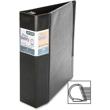 Davis Deluxe QuickFit® Heavy-Duty D-Ring Commercial Binders, Black