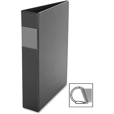 Davis – Reliure à anneaux en D en vinyle, 2 po, noir