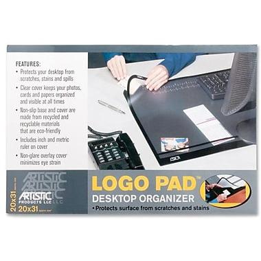 Artistic – Sous-main Logo pour bureau, 31 larg. X 20 prof. (po), noir