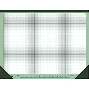 Blueline Ecologix Quad-ruled Paper Desk Pad, 40 Sheets