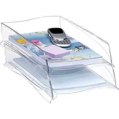 Greenside Isis Letter Tray, Single, Clear