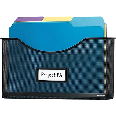 Fellowes Mesh Partition Additions™ File Pocket, Letter-Size, Black