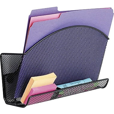 Safco Onyx Magic Magnetic File Pocket With Organizer, Letter-Size, Black