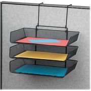 Fellowes Mesh Partition Additions™ Triple Tray, Letter-Size, 3 Pocket, Black