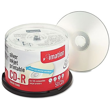 Imation 52X CD-R Discs, 700MB/80min, Silver, 50/Pack, Spindle