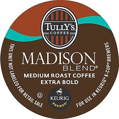 Keurig® K-Cup® Tully's® Madison Blend Coffee, Regular, 18 Pack