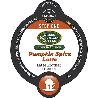 Keurig® Vue® Green Mountain® Pumpkin Spice Latte, 8 Frother + 8 Coffee/Pack