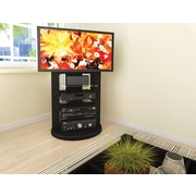 Sonax® Zurich 26.75 TV Stand with Swivel Base, Midnight Black lacquer