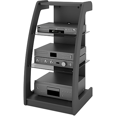 Sonax® Milan 21in. W Component Stand, Midnight Black