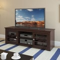 Sonax® West Lake 60in. Wood/Veneer TV/Component Bench, Dark Wood, Espresso
