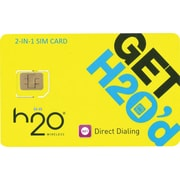 H2O 2-in-1 SIM Card (Standard and Micro)