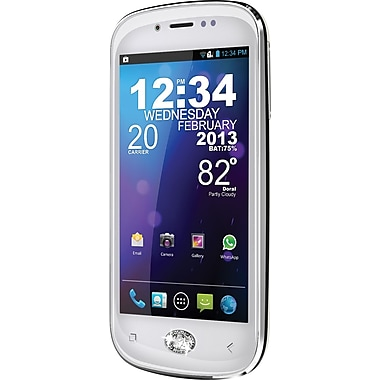 BLU Amour D290a Unlocked GSM Phone w/ Swarovski Zirconia Home Button, White