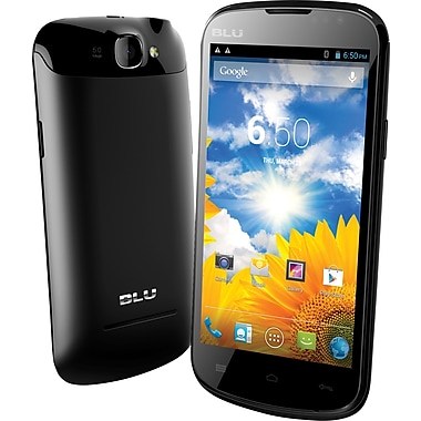 BLU Dash 4.5 D310a Unlocked GSM Dual-SIM Android Cell Phone, Black