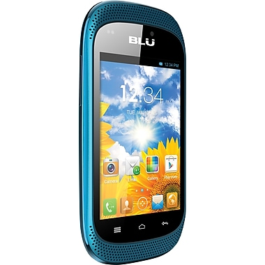 BLU Dash Music D172a Unlocked GSM Dual-SIM Android Cell Phone, Blue