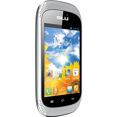 BLU Dash Music D172a Unlocked GSM Dual-SIM Android Cell Phone, White
