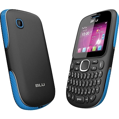 BLU Samba TV Q170T Unlocked GSM Dual-SIM Cell Phone, Black/Blue