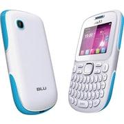 BLU Samba TV Q170T Unlocked GSM Dual-SIM Cell Phone, White/Blue