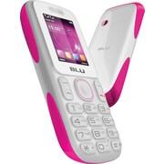 BLU Tank T190i Unlocked GSM Dual-SIM Cell Phone, White/Pink