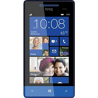 HTC 8X 16GB Unlocked GSM Windows 8 OS Cell Phone, Blue
