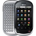 LG Optimus Chat C555 Unlocked GSM Android Slider Cell Phone, Black/Silver
