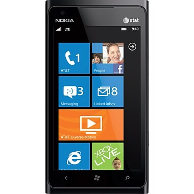 Nokia Lumia 900 GSM Unlocked Windows 7.5 OS Cell Phone, Black