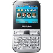 Samsung Ch@t 322 Unlocked GSM Dual-SIM Phone, Silver
