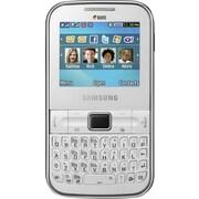 Samsung Ch@t 322 Unlocked GSM Dual-SIM Phone, White