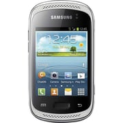 Samsung Galaxy Music Duos S6012 Unlocked GSM Dual-SIM Cell Phone, White