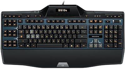 Logitech G510s Wired Illuminated Gaming Keyboard with Game Panel LCD Screen, Black (920-004967)