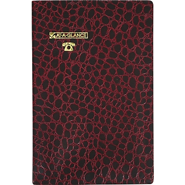 AT - A - GLANCE® Crodocile Cover Telephone/Address Book, 5 - 3/8