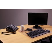 Desktex® Anti-Slip Polycarbonate Desk Mat, Clear, 17 X 22