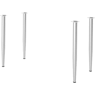 Bestar Build Your Desk Tapered Legs, 4/Pack, Zinc