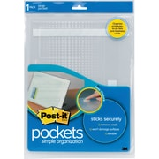Post-it® Notebook Pockets, Large, Clear, Each
