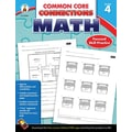 Carson-Dellosa Common Core Connections Math Workbook, Grade 4, Ages 9-10, 96 Pages