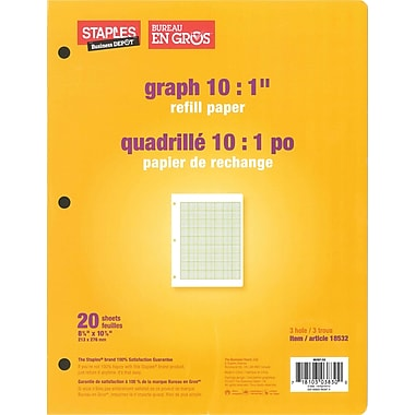 Staples® Refill Paper, Graph 10:1