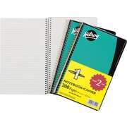 "Hilroy® Coil Notebook with Margin, 1 Subject, 9-1/2"" x 6"", 200 Pages, 2/Pack"
