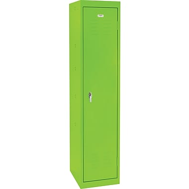 Sandusky® 66in.H x 15in.W x 18in.D Steel Single Tier Locker, Electric Green