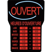 Royal Sovereign® LED Open Sign with Business Hours, French