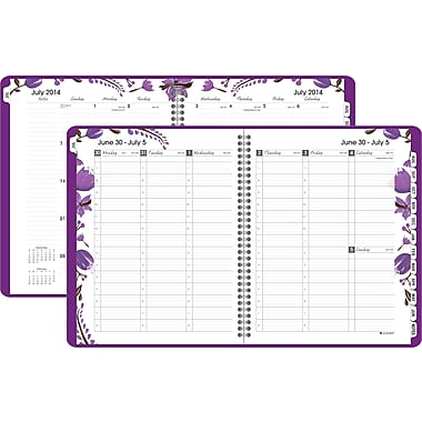 2014/2015 AT-A-GLANCE® Academic Camille Weekly/Monthly Appointment Book, 8 1/2in. x 11in.