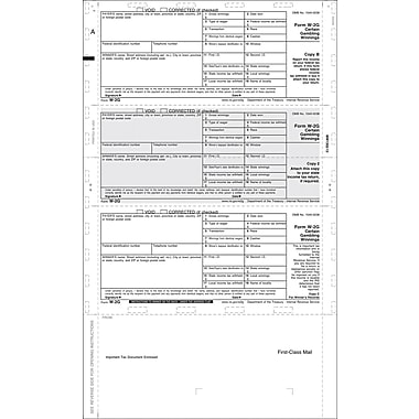 TOPS 2014 W2G Tax Form, 1 Part, White, 8 1/2 x 14, 500 Sheets/Pack