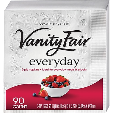 Vanity Fair® Everyday Napkins, 90/Pack