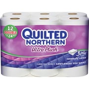 Quilted Northern® Ultra Plush Toilet Paper, 12 Rolls/Case