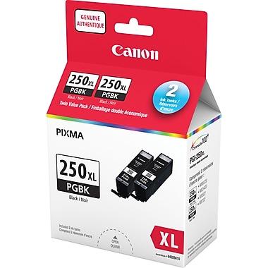 Canon® – Cartouche d'encre noire PGI-250XL, paquet double (6432B010)