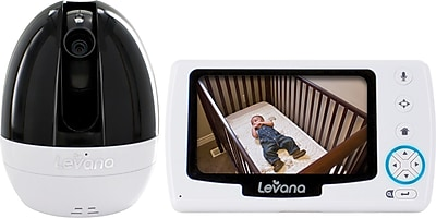 levana ovia 43 ptz digital baby video monitor with talk to baby intercom and. Black Bedroom Furniture Sets. Home Design Ideas