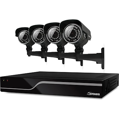 Defender Sentinel 4CH 500GB DVR w/ 4 x Hi-Res 600TVL 100ft Night Vision