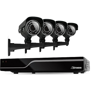 Defender Sentinel 8CH 500GB DVR w/ 4 x Hi-Res 600TVL 100ft Night Vision