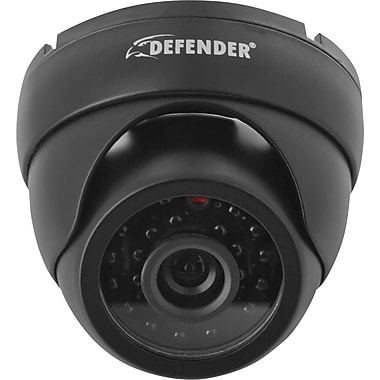 Defender Ultra High Resolution Indoor/Outdoor Dome Security Camera with 65ft Night Vision & 600 TVL