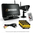 Defender Digital Wireless DVR Security System with 7 Inch LCD Monitor, SD Card Recording and Long Range Night Vision Camera