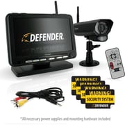 Defender® Digital Wireless DVR Security System with 7 Inch LCD Monitor, SD Card Recording and Long Range Night Vision Camera